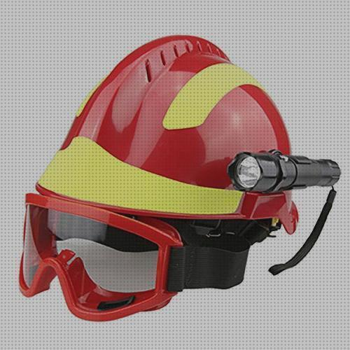 Gafas Casco Protector Profesional Anti-Impacto para Bomberos con Faro Hopcd Casco de Seguridad de Rescate de Emergencia 53cm-63cm//20.9-24.8in tama/ño Ajustable